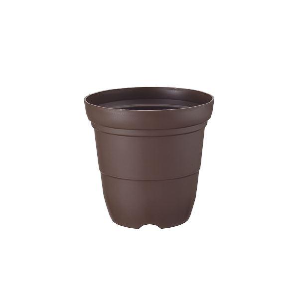 (まとめ) プラスチック製 植木鉢/ポット 【長鉢 7号 コーヒーブラウン】 ガーデニング 園芸 『カラーバリエ』 【×48個セット】