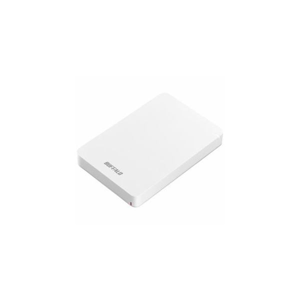 BUFFALO ポータブルHDD ホワイト 2TB HD-PGF2.0U3-BWHA【送料無料】