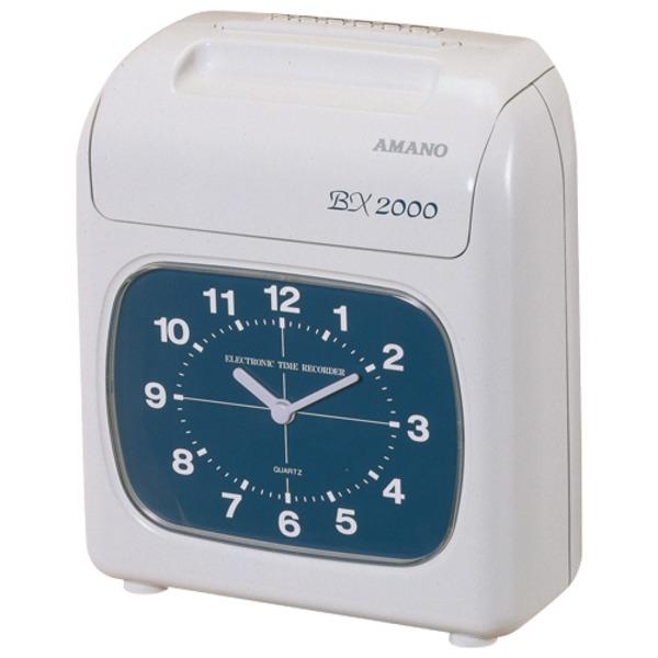 外出や休憩も記録できる1日4欄印字。使いやすいコンパクトタイプ。 アマノ 電子タイムレコーダーシルバーグレイ BX2000 1台
