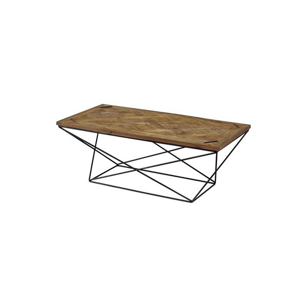 センターテーブル/ローテーブル 【幅120cm】 木製 アイアン 『ヒストリア』 〔リビング 店舗〕【代引不可】