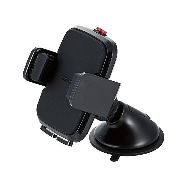 (まとめ)エレコム 車載スマホスタンドP-CARS02BK ブラック【×10セット】