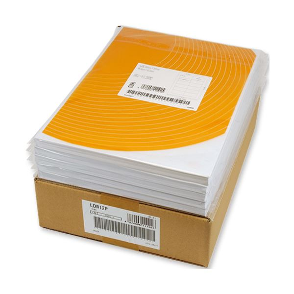 東洋印刷 ナナワード シートカットラベルマルチタイプ A4 12面 86.4×46.6mm 四辺余白付 LDW12PB1セット(2500シート:500シート×5箱)