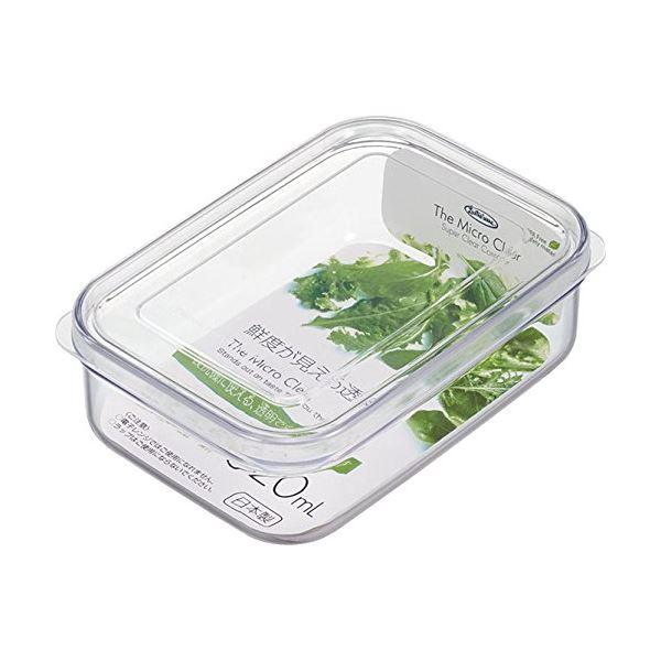 (まとめ) マイクロクリア フードケース/保存容器 【Sサイズ 620ml】 ナチュラル 食洗機可 キッチン用品 【×90個セット】