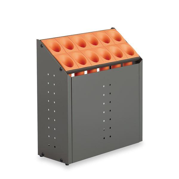 モダン 傘立て 【C12 オレンジ 12本立】 幅496mm スチール 樹脂製脚付 テラモト 『オブリークアーバン』 〔会社 店舗 玄関〕