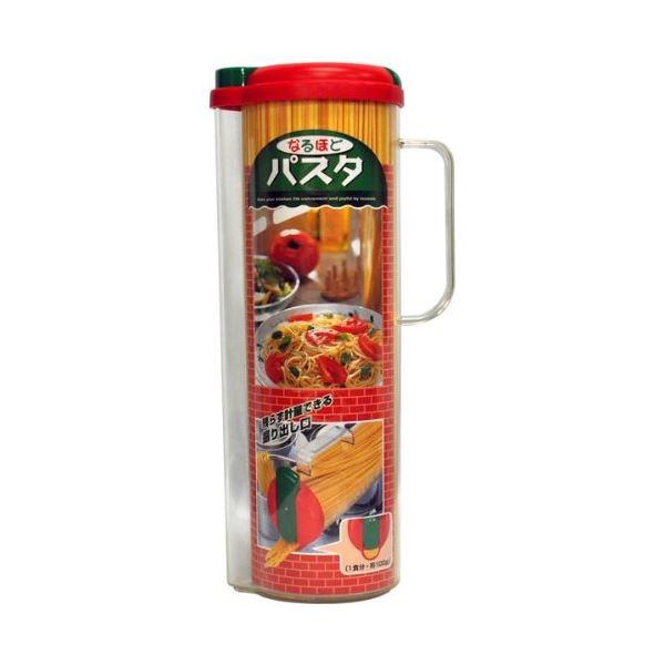 (まとめ) パスタ保存ポット/パスタケース 【パスタメジャー付き】 容量:1.4kg キッチン用品 なるほどパスタ 【×32個セット】