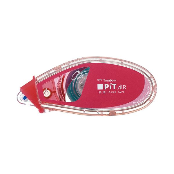 (まとめ)トンボ鉛筆 テープのりピットエアーミニ ピンク PN-EASC80 (×100セット)【送料無料】
