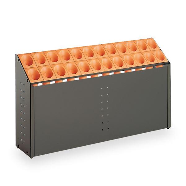 モダン 傘立て 【C24 オレンジ 24本立】 幅972mm スチール 樹脂製脚付 テラモト 『オブリークアーバン』 〔会社 店舗 玄関〕