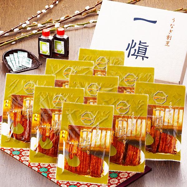 【愛知県産うなぎ使用】うなぎ割烹「一愼」特製うなぎカット蒲焼 約60g×9枚(たれ、山椒セット)
