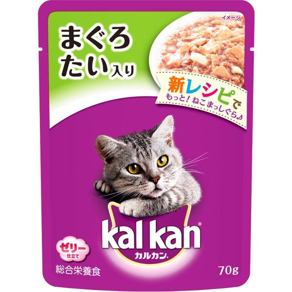 (まとめ)カルカン パウチ まぐろ たい入り 70g【×160セット】【ペット用品・猫用フード】