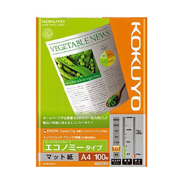 (まとめ)コクヨ インクジェットプリンタ用紙スーパーファイングレード エコノミータイプ A4 KJ-M18A4-100 1冊(100枚) 【×20セット】