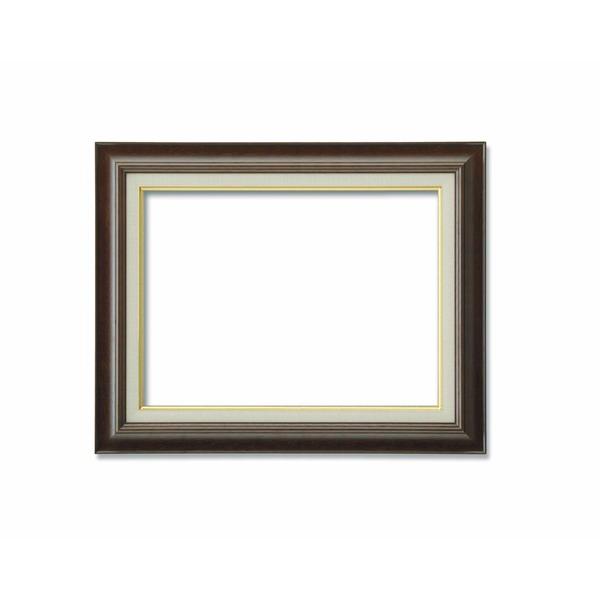 【油額】油絵額・キャンバス額・木製油絵額・茶色油絵額 ■M10号(530×333mm)ブラウン