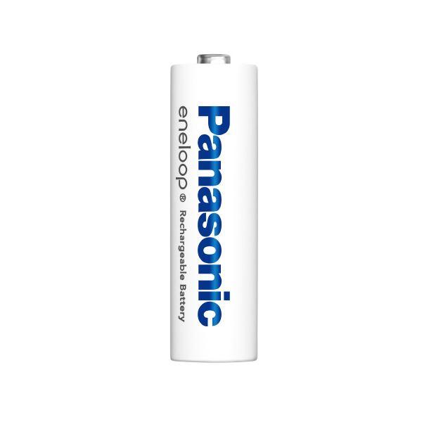 (まとめ)Panasonic エネループ充電式電池単4 4本 BK-4MCC/4C【×10セット】