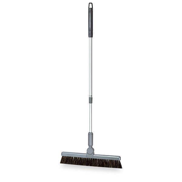 (まとめ) ほうき/掃除用品 【伸縮柄 グレー 30cm】 最長:約102cm BM-2ホーキ30 〔業務用 施設 店舗〕 【×5セット】