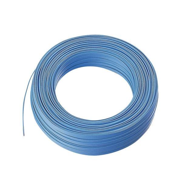 エレコム スーパーフラットケーブルコネクタなし ブルー 100m LD-CTFS/BU100 1箱