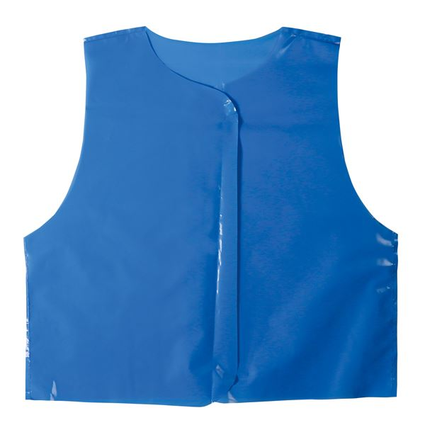 (まとめ)ビニール製衣装ベース Jサイズ(約45cm) ベスト 青 (10枚入) 【×10個セット】