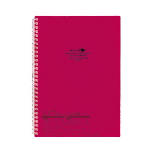 (まとめ) リヒトラブ AQUA DROPsツイストノート セミB5 29穴 B罫 30枚 赤 N-1608-3 1冊 【×30セット】