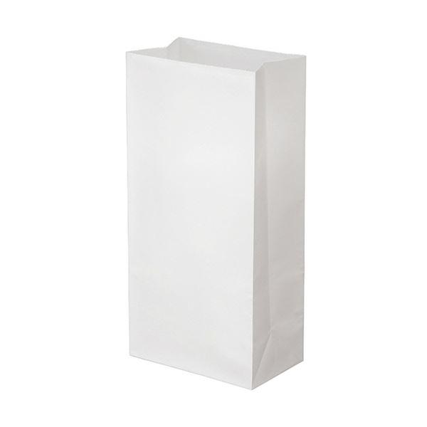 (まとめ) TANOSEE 角底袋 8号ヨコ155×タテ320×マチ幅95mm 晒 1パック(500枚) 【×10セット】