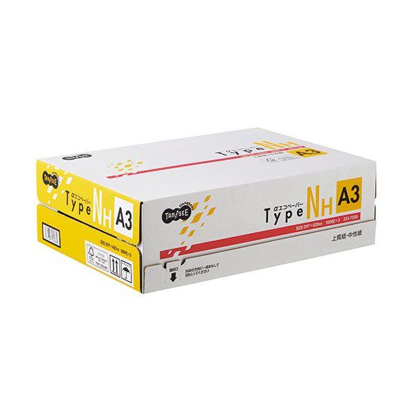 (まとめ)TANOSEE αエコペーパータイプNH A3 1箱(1500枚:500枚×3冊) 【×3セット】