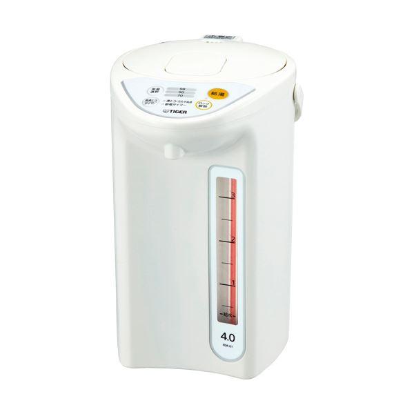 タイガー魔法瓶 マイコン電動ポット 4Lホワイト PDR-G401W 1台
