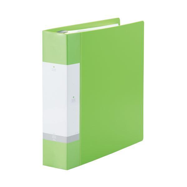 (まとめ)LIHITLAB クリヤーブック リクエストG3808-6 A4S 黄緑【×10セット】