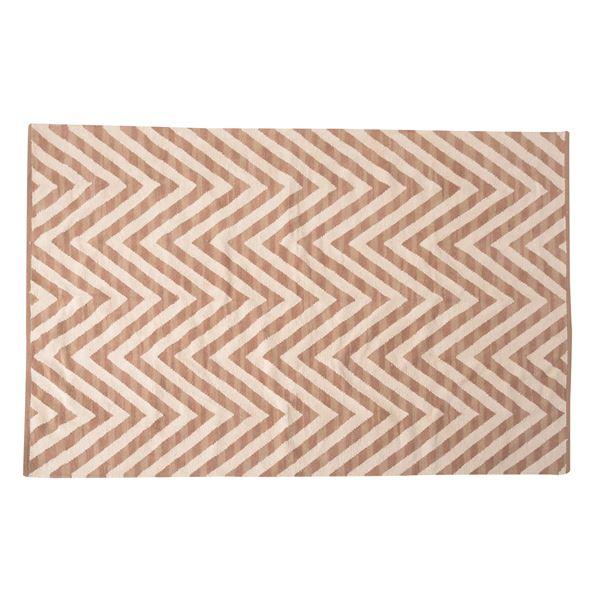 エスニック調 ラグマット/絨毯 【130×190cm TTR-170C】 長方形 綿100% インド製 収納袋付き 〔リビング ダイニング〕