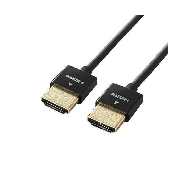 5個セット エレコム イーサネット対応スーパースリムHDMIケーブル(A-A) DH-HD14SS20BKX5