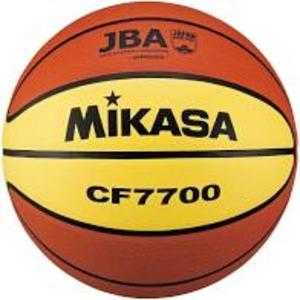 バスケットボール7号 検定球 天然皮革 茶/黄【代引不可】
