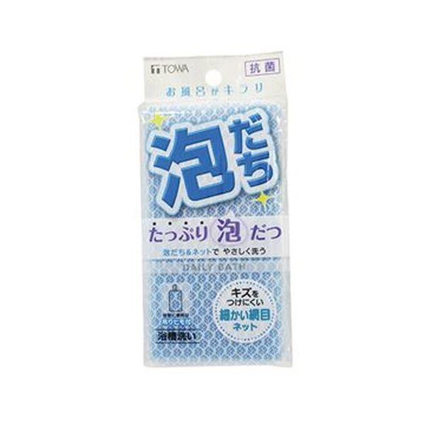 (まとめ)東和産業 ネットバススポンジ ブルー 1個【×50セット】