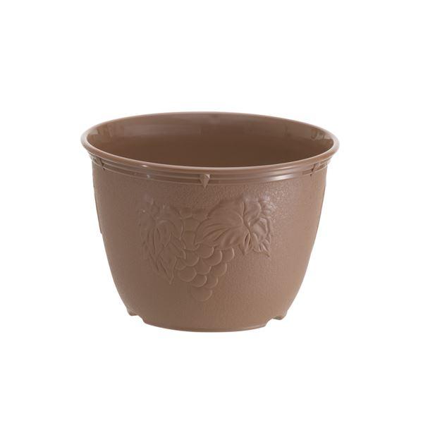 (まとめ)植木鉢 ビオラデコ 7号 チョコブラウン ( プラスチック製 プランター ) 【90個セット】