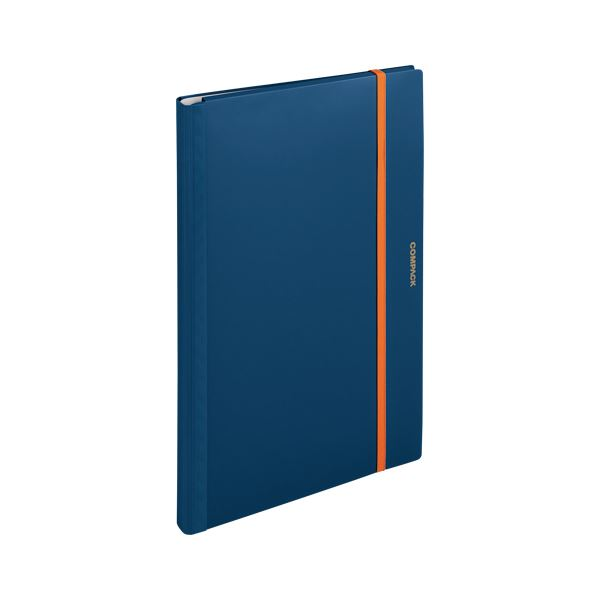 (まとめ) キングジム 二つ折りクリアーファイル コンパック A3 10P ネイビー【×20セット】