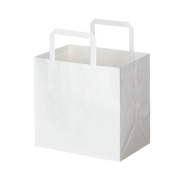 (まとめ) HEIKO Hフラットチャームバッグ220-1 白 #003277305 1パック(50枚) 【×10セット】