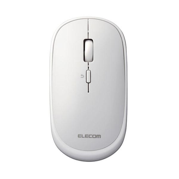 無線タイプ 便利なレザー調ポーチ付属 持ちやすい薄型マウス まとめ メーカー直売 エレコム 2.4GHz無線マウスSlint M-TM10DBWH ×5セット ブランド品 ホワイト スリント 1個