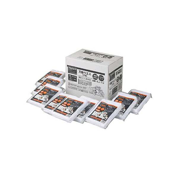 TRUSCO 万能ウエスシートサイズ290×200mm ホワイト GJ-TU 1箱(240枚)
