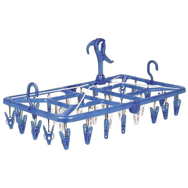 (まとめ)洗濯ハンガー アーチ ベランダ用 目隠しハンガー ピンチ36個付 (ピンチハンガー) 【20個セット】