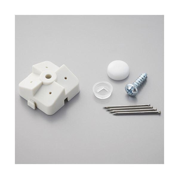 (まとめ) 光 パンチングボードパーツ 石膏ボード用止め具セット 白 (4組入/パック) PBST-2 1セット(5パック) 【×5セット】