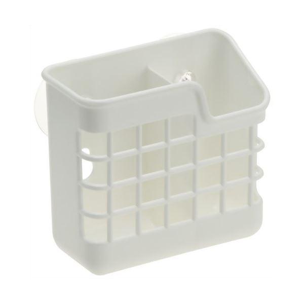 (まとめ)カトラリースタンド Nポゼ キッチンポケット W型 ホワイト 【45個セット】