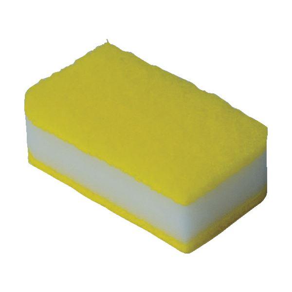 (まとめ)TRUSCO 抗菌ソフトスポンジ イエロー KSS-Y-10 1袋(10個)【×5セット】