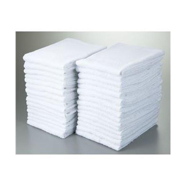 (まとめ)業務用薄手白タオル(平地付)1パック(30枚)【×5セット】
