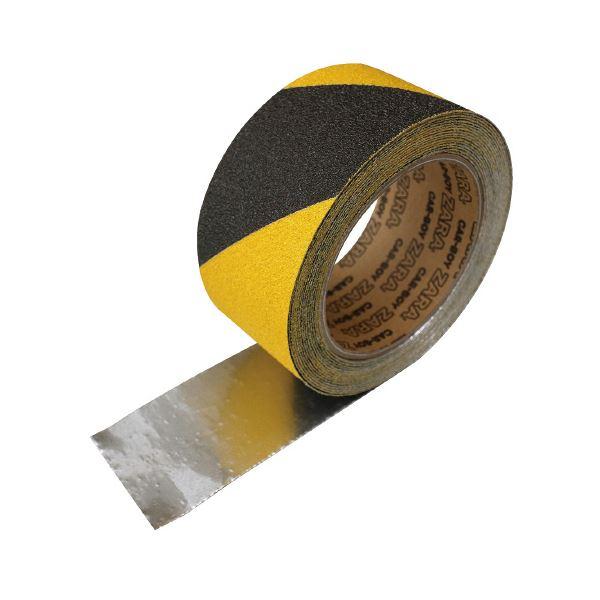 トラ柄 すべり止めテープザラザラ 50mm×5m【×30セット】 (まとめ)カーボーイ