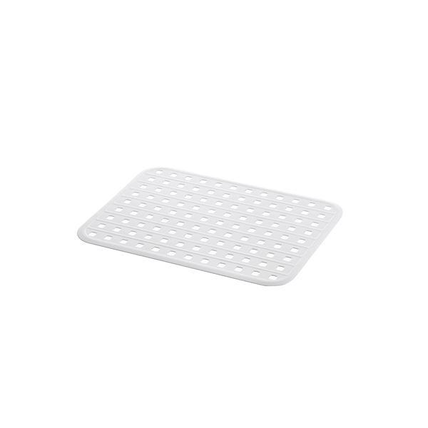 (まとめ) シンクマット/キッチン用品 【ホワイト】 抗菌加工付き 『シェリー』 【×30個セット】