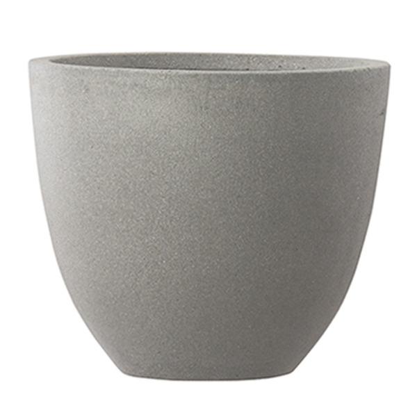 【送料無料】ファイバーセメント製 軽量植木鉢 スタウト アッシュラウンド 42cm 大型植木鉢