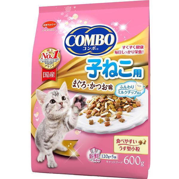 (まとめ)コンボ キャット 子ねこ用 ミルクチップ添え 600g【×12セット】【ペット用品・猫用フード】