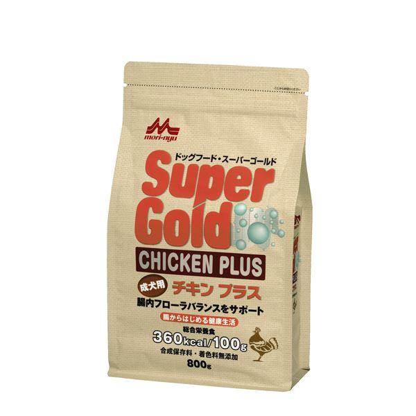 (まとめ)スーパーゴールド チキンプラス 成犬用 800g【×12セット】【ペット用品・犬用フード】