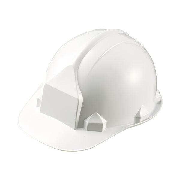 (まとめ)加賀産業 ヘルメット つば付 アメリカン型 白【×10セット】