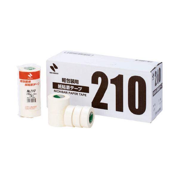 (まとめ)ニチバン 紙粘着テープ 210-18 白 18mm×18m 7巻【×30セット】