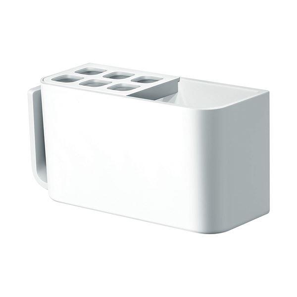 (まとめ)アスベルRAXE(ラックスMG) マグネット 歯ブラシラック ホワイト 5858(歯ブラシ スタンド ラック 浴室 収納 壁面 バス 磁石 白) 【32個セット】