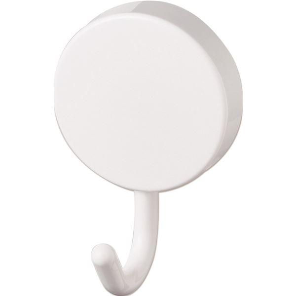 (まとめ)アスベルRAXE(ラックスMG) マグネット 回転式 フック ホワイト 5860(引っ掛け 収納 バス 浴室 システムバス ホルダー 磁石 白) 【72個セット】