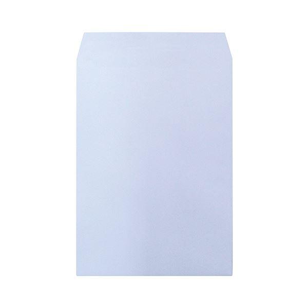 (まとめ) ハート 透けないカラー封筒 テープ付角2 パステルアクア XEP474 1パック(100枚) 【×5セット】