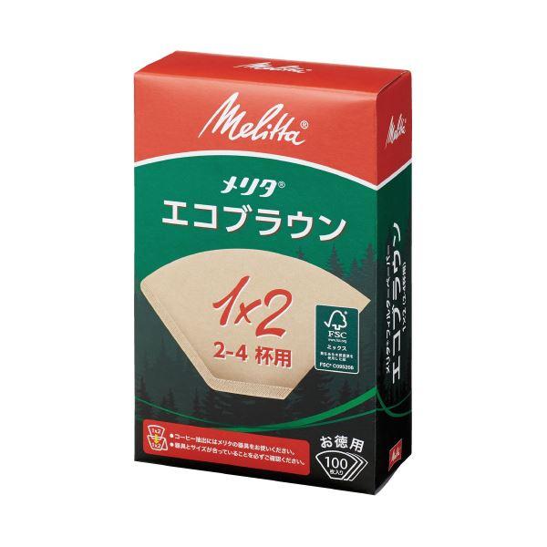 (まとめ)メリタ エコブラウンペーパー1×2G 2~4杯用 100枚(×100セット)【送料無料】