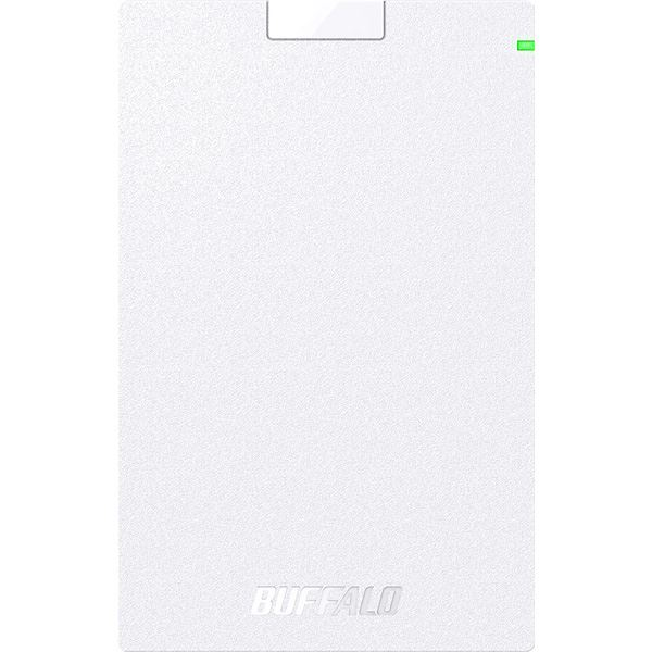 バッファロー USB3.2(Gen1)対応ポータブルHDD Type-Cケーブル付 2TB ホワイト【送料無料】